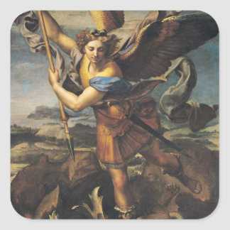 St. Michael Overwhelming the Demon, 1518 Square Sticker