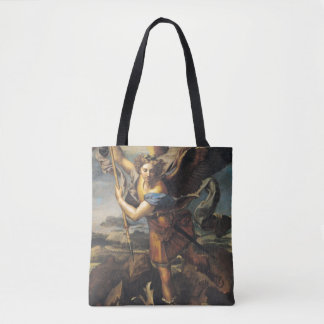 St. Michael Overwhelming the Demon, 1518 Tote Bag