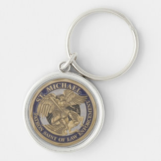 St MICHAEL PATRON SAINT OF LAW ENFORCEMENT Keychain