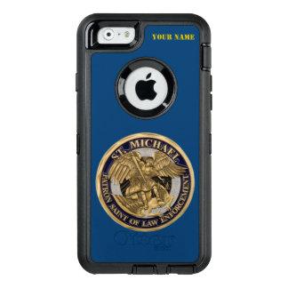 ST. MICHAEL: PATRON SAINT OF LAW ENFORCEMENT OtterBox DEFENDER iPhone CASE