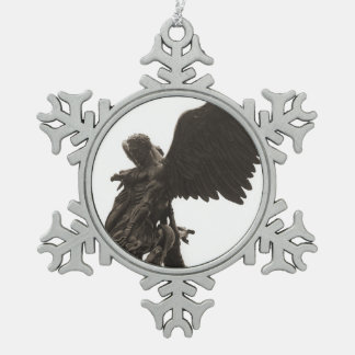 St. Michael Pewter Onrament Snowflake Pewter Christmas Ornament