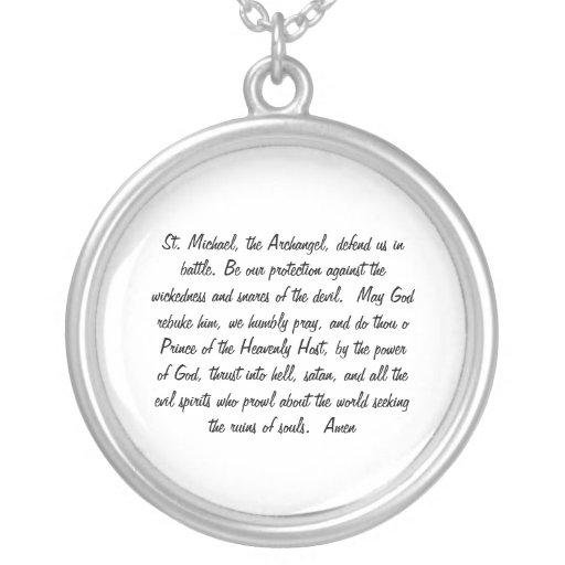 st michael prayer necklace zazzle