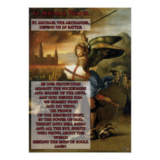 St Michael Prayer Posters