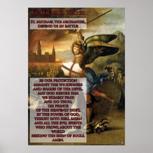 St. Michael Prayer Posters