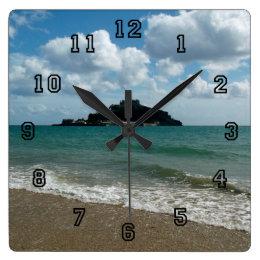 St Michael's Mount Marazion Cornwall England Square Wall Clock