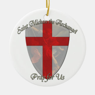 St Michael - Shield Double-Sided Ceramic Round Christmas Ornament