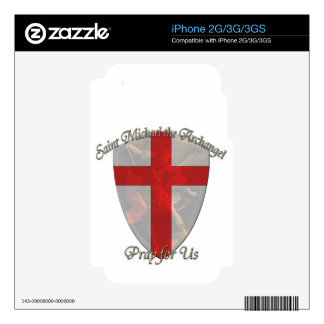St Michael - Shield Decals For The iPhone 3G