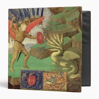 St. Michael Slaying the Dragon Vinyl Binder