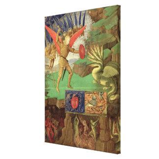 St. Michael Slaying the Dragon Canvas Prints