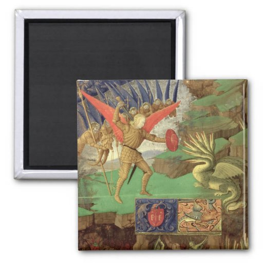 St. Michael Slaying the Dragon Refrigerator Magnets