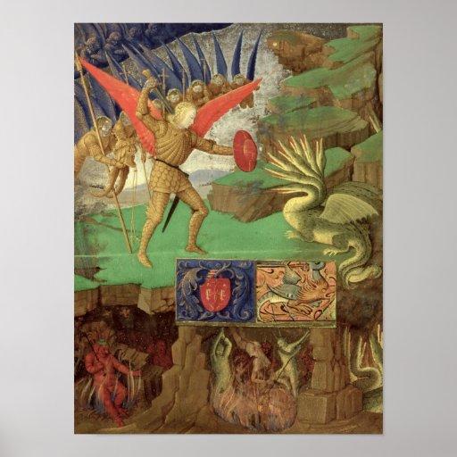 St. Michael Slaying the Dragon Print