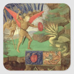 St. Michael Slaying the Dragon Square Sticker