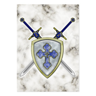 St Michael - Swords and Shield Large Business Cards (Pack Of 100)