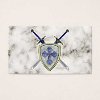 St Michael - Swords and Shield Business Card