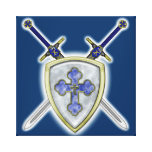 St Michael - Swords and Shield Canvas Print