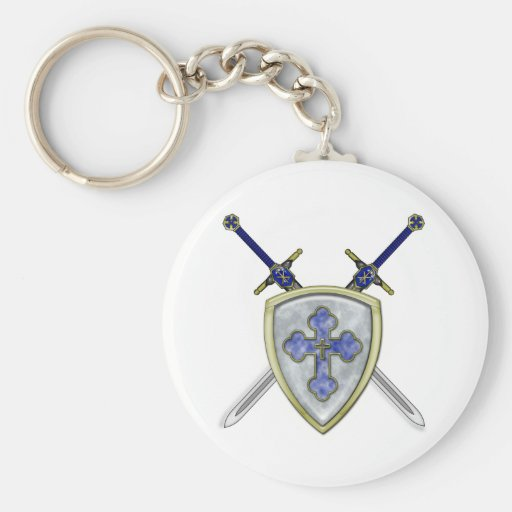 St Michael - Swords and Shield Keychain