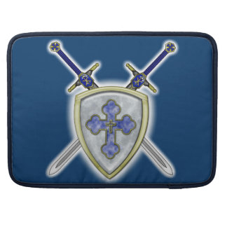 St Michael - Swords and Shield Sleeve For MacBooks