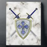 "St Michael - Swords and Shield Plaque<br><div class=""desc"">St Michael - Swords and Shield</div>"
