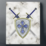 "St Michael - Swords and Shield Plaque<br><div class=""desc"">St Michael - Swords and Shield</div>"
