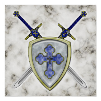 St Michael - Swords and Shield Print