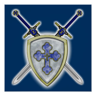 St Michael - Swords and Shield Poster