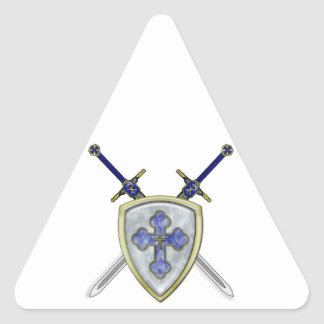 St Michael - Swords and Shield Triangle Sticker