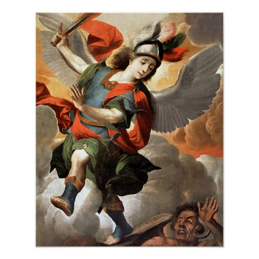 St Michael the Archangel 3 Angel Poster Print