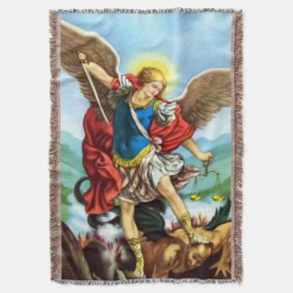 St Michael the Archangel Angel Catholic Blanket