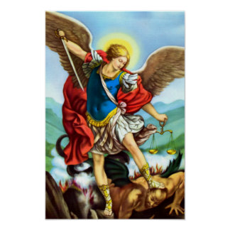 St Michael the Archangel Angel Catholic Saint Poster