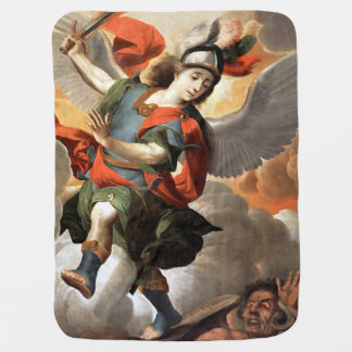 St Michael the Archangel Baby Blanket - San Miguel