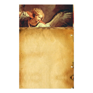 St Michael the Archangel Brown Parchment Customized Stationery