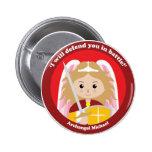St. Michael the Archangel Button