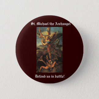St. Michael the Archangel Button
