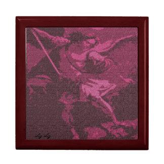ST. MICHAEL THE ARCHANGEL BY LIZ LOZ JEWELRY BOX