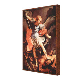St. Michael the Archangel by Reni Good vs Evil Canvas Print