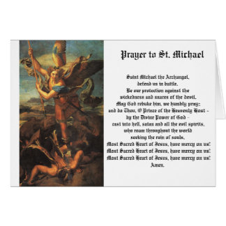 St. Michael the Archangel Card