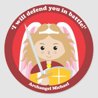 St. Michael the Archangel Classic Round Sticker