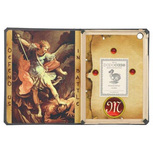 St. Michael the Archangel Monogram Parchment iPad Air Covers