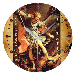 St. Michael the Archangel Parchment Large Clock