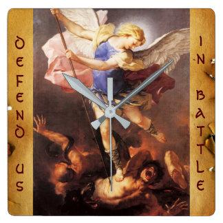 St. Michael the Archangel Parchment Square Wall Clock