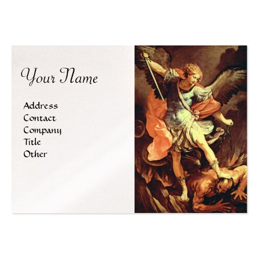 St. Michael the Archangel,pearl paper Business Cards
