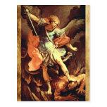 St. Michael the Archangel Prayer Card Postcard