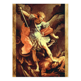 St. Michael the Archangel Prayer Card Postcards