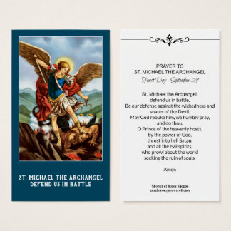 St. Michael the Archangel Prayer Holy Card