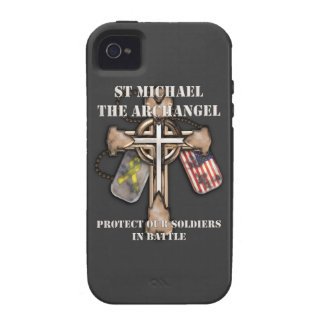 St Michael The Archangel - Protect Our Soldiers iPhone 4/4S Case