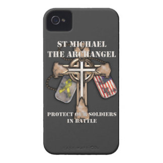 St Michael The Archangel - Protect Our Soldiers iPhone 4 Cover