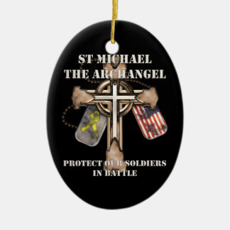 St Michael The Archangel - Protect Our Soldiers Ceramic Ornament