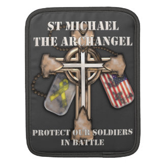 St Michael The Archangel - Protect Our Soldiers iPad Sleeves