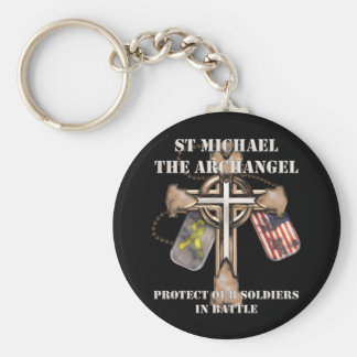 St Michael The Archangel - Protect Our Soldiers Keychain