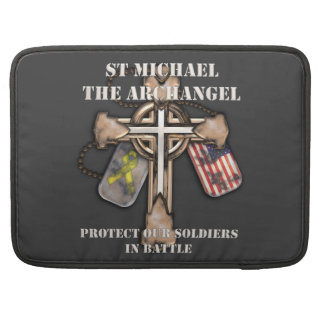 St Michael The Archangel - Protect Our Soldiers Sleeves For MacBook Pro
